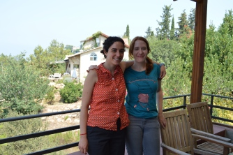 Me, with my friend Alina, in the village of Ein Hod. (c) Gabrielle Lipner 2015