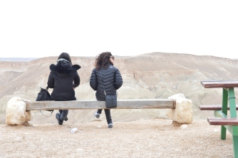 Two cousins in the middle of the Negev Desert, in the dead of winter. (c) Gabrielle Lipner 2015